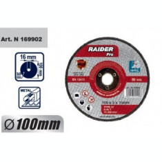 Disc pentru metal, scule pneumatice 100x3x16mm, Raider