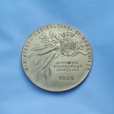 Medalie Agricultura 1925 - Zootehinca - per. regalista - Romania