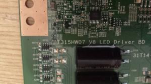 LG 42LV5500 LED Driver Board T315HW07 V8 LED