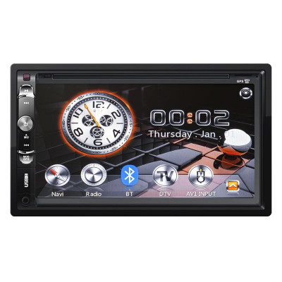Radio Player Auto Kruger Matz, 2 Din, DVB-T, GPS, Bluetooth, Ecran tactil, 7 inch foto