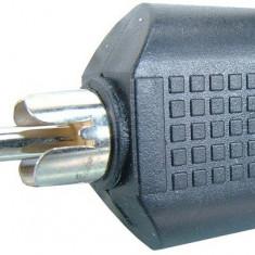 Adaptor RCA tata la 2 x jack mama 3,5 mm mono - 126705