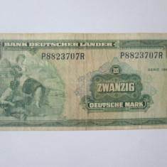 Cumpara ieftin Rara! Germania Federala/RFG 20 Mark/Marci 1949
