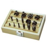 Cumpara ieftin Set freze pentru lemn Mannesmann M54515, O6 mm, 15 piese