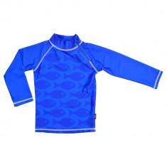 Tricou de baie Fish blue marime 98-104 protectie UV Swimpy for Your BabyKids
