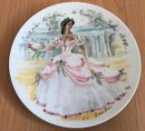 Farfurie - Limoges - Les Femme du Siecle - Scarlet - 1978 - certificat