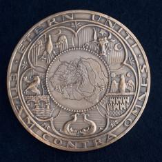Medalie Ferdinand I Intregitorul - 1929 - Harta Romania Mare
