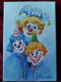 Din lumea circului 1-pictura ulei pe panza, Portrete, Altul