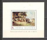 Romania.1971 Expozitia filatelica BALKANFILA:Pictura-Bl. DR.279