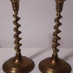 pereche de sfesnice din bronz masiv