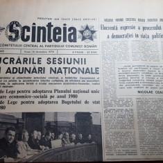 ziarul scanteia 14 decembrie 1979-lucrarile marii adunarii nationale