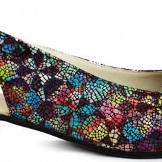Pantofi dama casual Ninna Art 251 vitralii