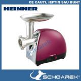 Masina de tocat Heinner 1600 W , cutit de inox, visiniu sidef > Produs resigilat