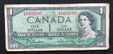 Canada one dollar dolar 1954
