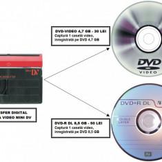 Transfer casete video Mini DV pe DVD