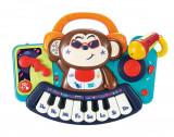Pianina bebe maimutica DJ cu lumini sunete si microfon