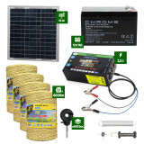 Pachet gard electric cu Panou solar 2,5J putere și 4000m Fir 160Kg