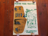 Arta si Design industrial - Afis perioada comunista protectia muncii anii 70 !