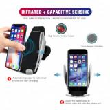 Cumpara ieftin Suport telefon cu inchidere automata motorizata senzor IR , incarcare wireless
