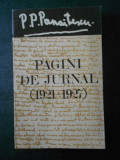 P. P. PANAITESCU - PAGINI DE JURNAL (1921-1927)