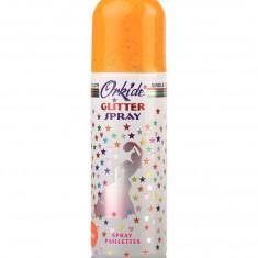 Spray Stralucitor PORTOCALIU Pentru Par Si Corp Orkide Glitter Spray 90 ml