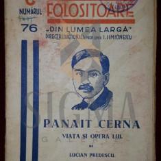 """PREDESCU LUCIAN """"PANAIT CERNAT, VIATA SI OPERA LUI"""" - SIMIONESCU I. (CUNOSTINTE FOLOSITOARE, SERIA C, """"DIN LUMEA LARGA"""", NUMARUL 76)"""