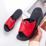 Papuci dama rosii MDL00791