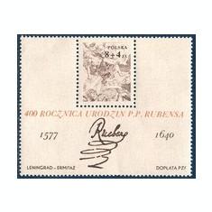 Polonia 1977 - Rubens ,bloc neuzat,perfecta stare(z)