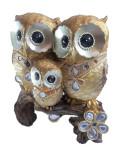 Figurina Decorativa Bufnita cu pui Cod Produs 17006-02