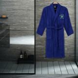 Cumpara ieftin Halat de baie Beverly Hills Polo Club, 355BHP1703, bumbac 100 procente, XS/S, Albastru