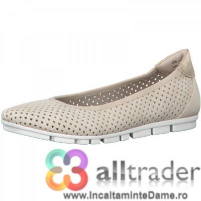 Pantofi bej perforati S.OLIVER - colectia 2020 - 22100 foto