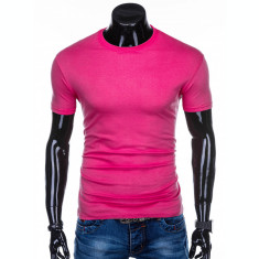 Tricou barbati, bumbac - S970-roz-inchis