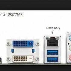 Placa de baza Intel DQ77MK,socket 1155,Gen 2/3,USB 3,SATA3,4 X DDR3 Q77 NOUA, Pentru INTEL, DDR 3