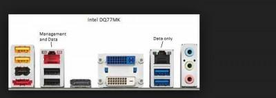 Placa de baza Intel DQ77MK,socket 1155,Gen 2/3,USB 3,SATA3,4 X DDR3 Q77 NOUA foto