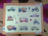 Toy Vehicule Puzzle copii 10 piese +1 an