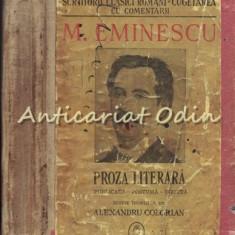 Proza Literara - M. Eminescu
