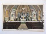 Carte postala veche, biserica St. Mary Church, Bloomington, SUA, anii 1900