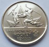 Monedă 25 cents 2009 Canada, unc, Women's Ice Hockey, km#1064, America de Nord