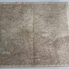 Cumpara ieftin Raritate! Harta pe panza 1880 in limba maghiara cu Regiunea Sibiu,510 x 503 mm