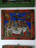 """""""Punerea in Mormant"""", pictata de Ion Morar - Salistea Sibiului, icoana pe sticla"""
