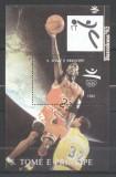 Sao Tome e Principe 1992 Sport, Olympics, Basketball, perf. sheet, MNH S.023