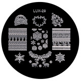 Cumpara ieftin Matrita Metalica Stampila Unghii LUX-29 - Winter's Tale