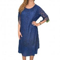 Rochie eleganta Eleanor din dantela,nuanta de bleumarin, 52, 54, 56, 58