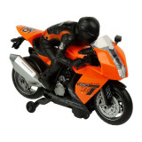 Motor cu pilot Autobike Orange Jersey, 3 ani+