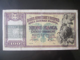 Rara! Albania 100 Franga 1945 cu supratipar,ocupatia Italiana WWII