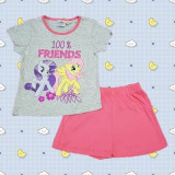 Pijama maneca scurta My Little Pony roz 3-8ani