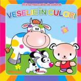 Veselie in culori - prima mea carte de colorat |