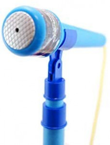 Microfon de jucarie cu amplificator voce inaltime ajustabila si lumini, Set 2 MP3 Star Party dual, HMD2715BL