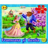 Cumpara ieftin Puzzle - Frumoasa si Bestia (30 piese)/***