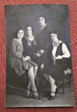 Grup de patru femei - Fotografie tip carte postala datata 1929, Balcic