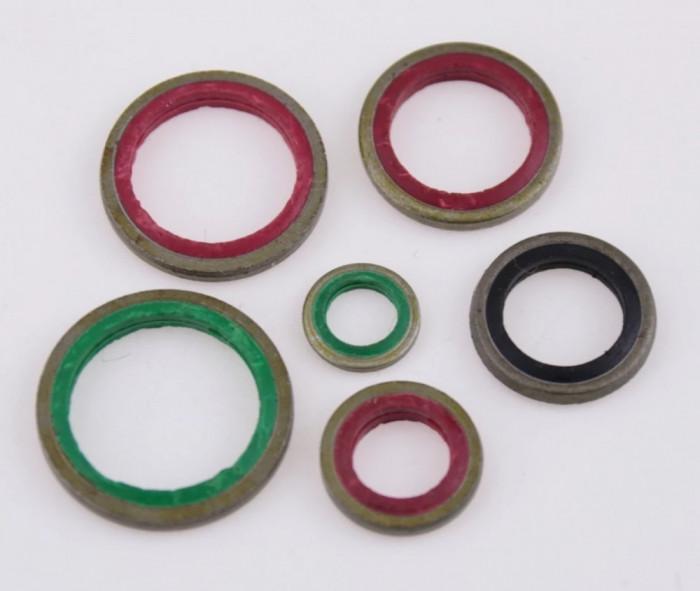 Trusa 100 garnituri oringuri saibe presa hidraulica ulei NBR + metal